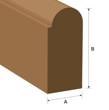 Staff Bead Hardwood Moulding 15mm x 20mm