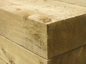 Green Treated Softwood Sleeper 130mm x 220mm x 2.6m