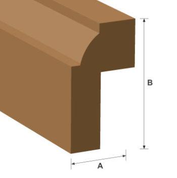 Lug Bead Hardwood Moulding 15mm x 25mm