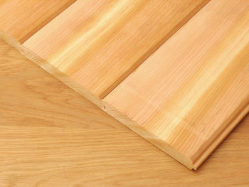 Western Red Cedar - Tongue &  Grooved & V Joint 19mm x 140 mm per metre