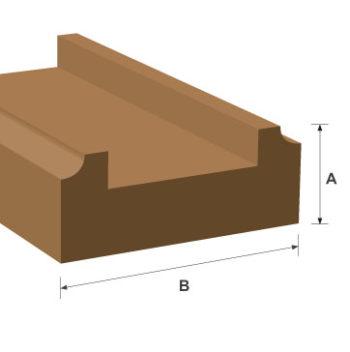 Base Rail White Oak Moulding 22mm x 65mm per metre