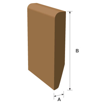 Chamfered & Rounded / Pencil Rounded Skirting Softwood Moulding 16mm x 95mm per metre