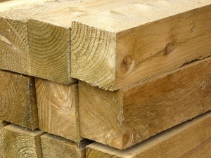 Green Treated Softwood Post 100mm x 100mm x 3m