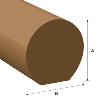 Mopstick Handrail White Oak Moulding 45mm x 45mm per metre