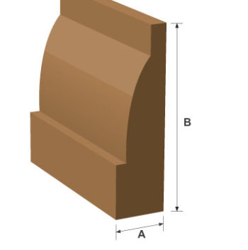 Ovolo MDF Moulded & Primed Skirting 18mm x 170mm