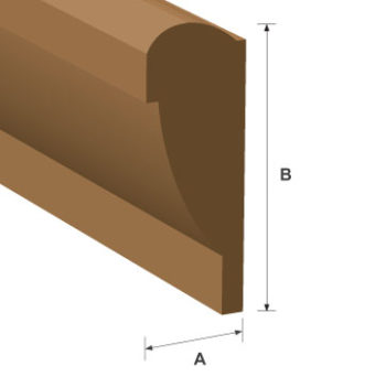 Picture Rail Hardwood Moulding 20mm x 45mm