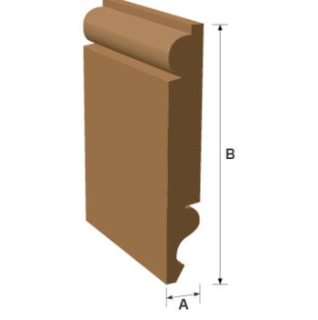 Torus/Ogee Reversible Skirting  Softwood Moulding 20mm x 145mm per metre