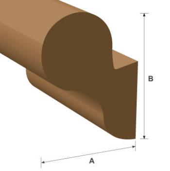Wallfix Handrail White Oak Moulding 45mm x 95mm per metre