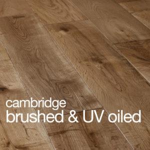Cambridge Oak Flooring B&O Brushed & UV Oiled Rustic B Grade Beval Edges T&G