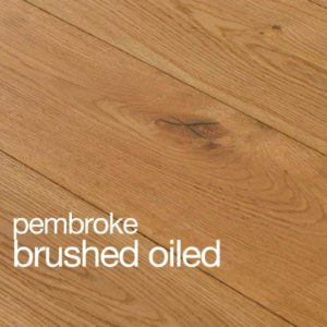 Pembroke Oak Flooring Brushed & Oiled Rustic Grade B Grade Beval Edges T&G