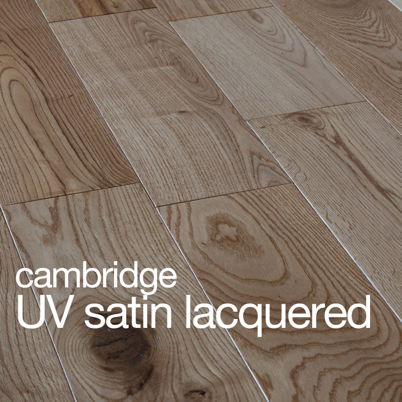 Cambridge Oak Flooring UV Satin Lacquer Rustic B Grade Beval Edges T&G