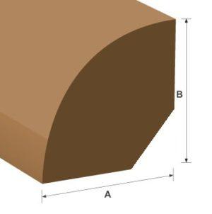 Quadrant Softwood Moulding 19mm x 19mm per metre